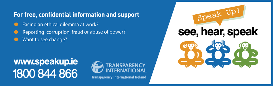 Transparency International Ireland's Speakup Helpline service for whistleblowers